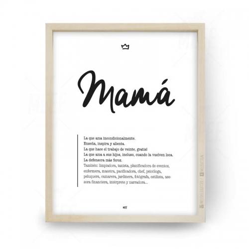 Regalo para Mamá!. Regalá distinto, regalá original, regalá un cuadrito Meee. Cuadros decorativos, minimalistas, cuadros modernos, frases enmarcadas en Meee Decorativo.