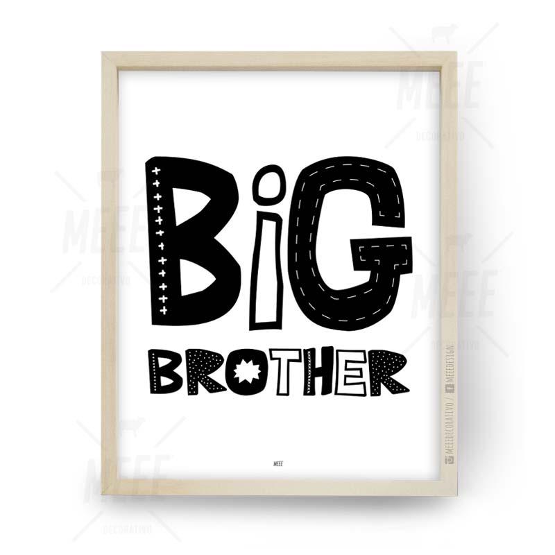 Big Brother, Cuadros decorativos, cuadros modernos, frases enmarcadas en Meee Deco
