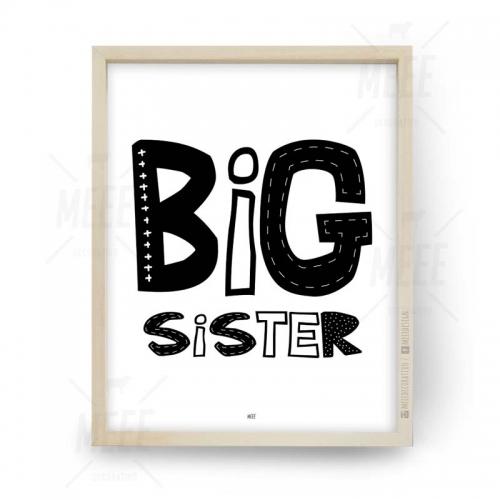 Big sister, Cuadros decorativos, cuadros modernos, frases enmarcadas en Meee Deco