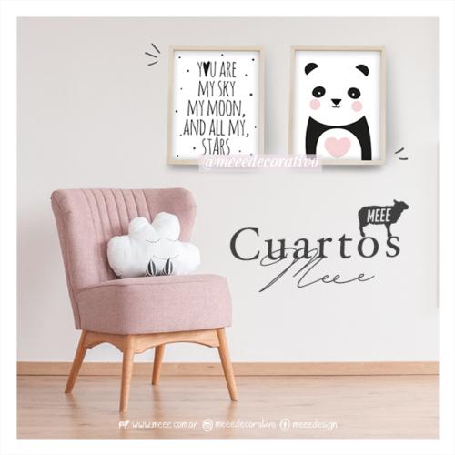 Combo de cuadros Panda con Frase - Meee Decorativo