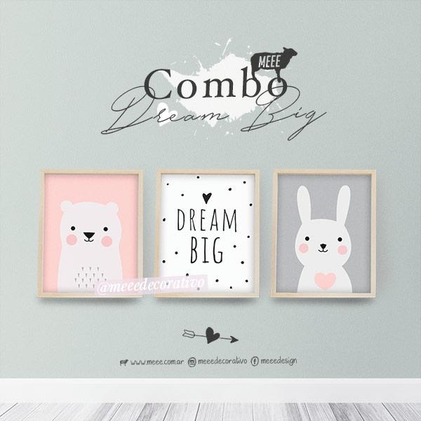 Combo Trio de cuadros Pareja de animalitos con frase - Meee Decorativo