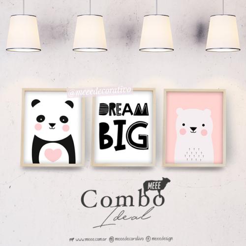 Combo de cuadros familia de osos - Meee Decorativo