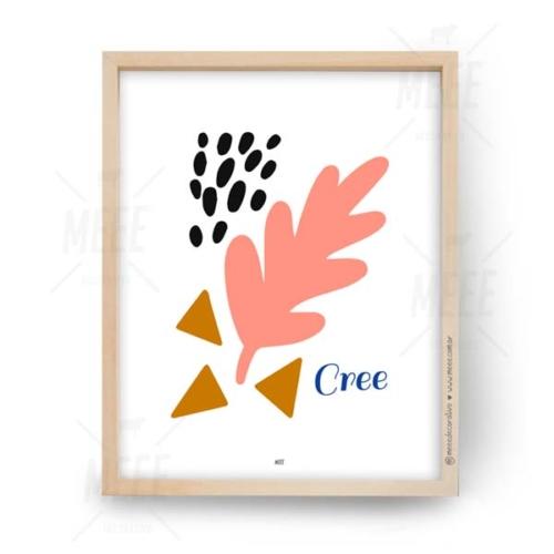 Cree - Cuadros decorativos abstractos de Meee Decorativo
