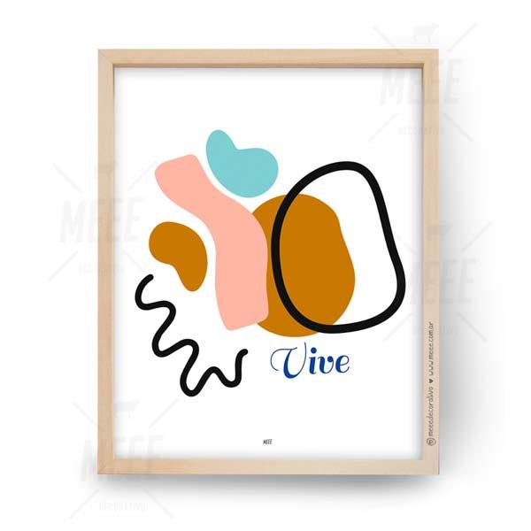 Vive - Cuadros decorativos abstractos de Meee Decorativo