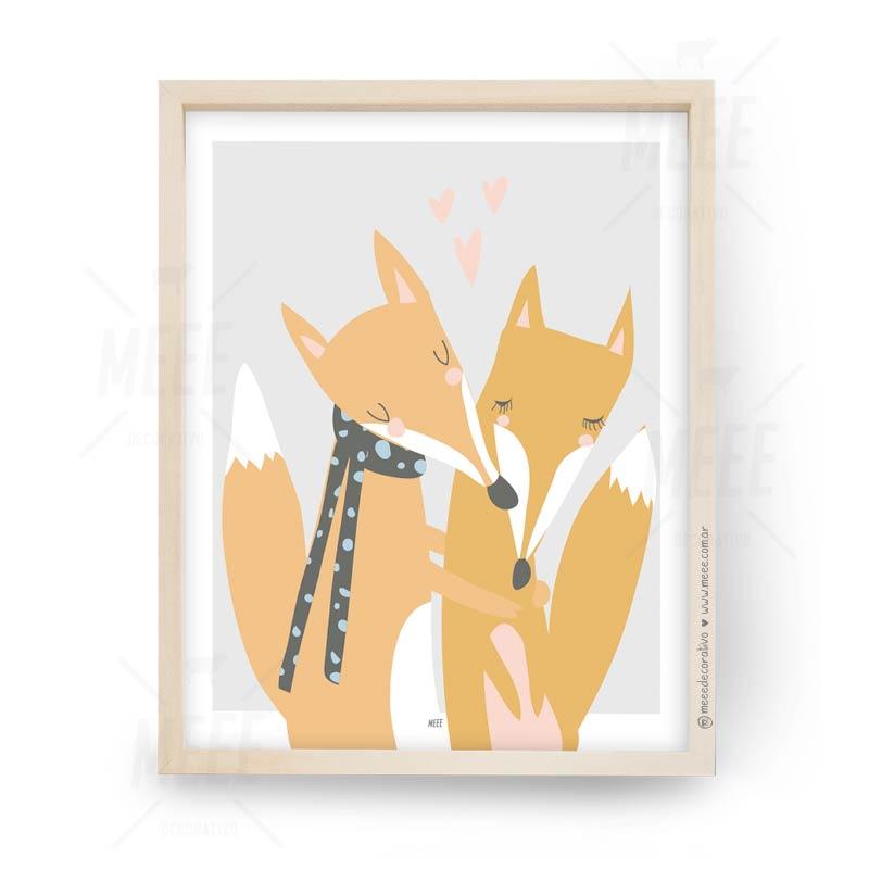 Abrazo de Zorros - Cuadros decorativos Meee by May Anokian