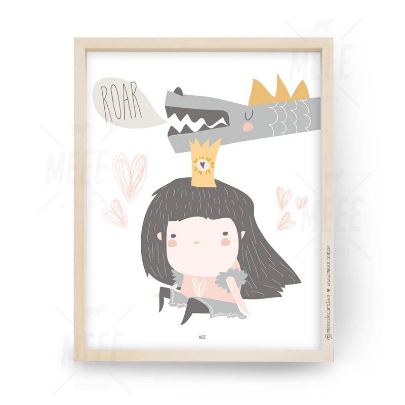Princesas y Dragones - Cuadros decorativos Meee by May Anokian